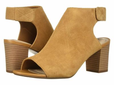 Clarks - Clarks Women Tan Suede Deva Bell Heeled Sandals
