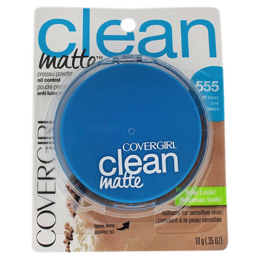Clean Matte Pressed Powder - # 555 Soft Honey 0,35oz