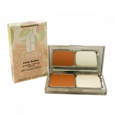 Clinique - Clinique Even Better Powder Makeup SPF 25 - 19.5 Toasted Almond (M-G) - All Skin Types 0.35 oz