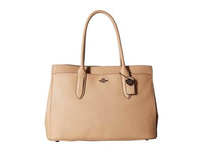 Coach - Coach Dk/Beechwood Bailey Carryall İn Crossgrain Leather Shoulder Bag
