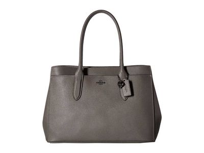 Coach - Coach Dk/Heather Grey Bailey Carryall İn Crossgrain Leather Shoulder Bag