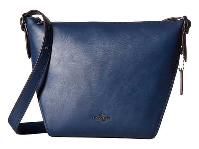 Coach - Coach Dk/Navy Dufflette İn Natural Calf Leather Shoulder Bag