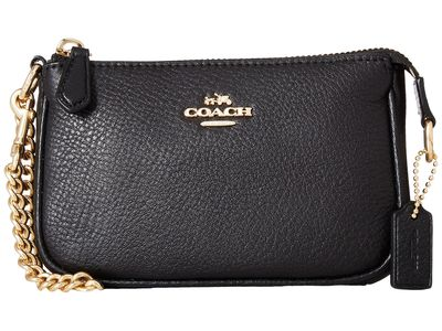 Coach - Coach İm/Black Pebble Leather Small Wristlet 15 Clutch Bag