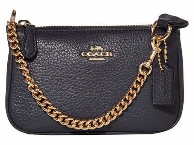 Coach - Coach İm/Midnight Pebble Leather Small Wristlet 15 Clutch Bag