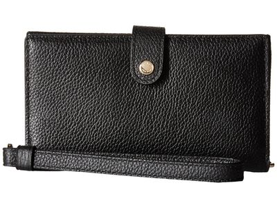 Coach - Coach Li/Black Polished Pebble Phone Wristlet Phone Wallet