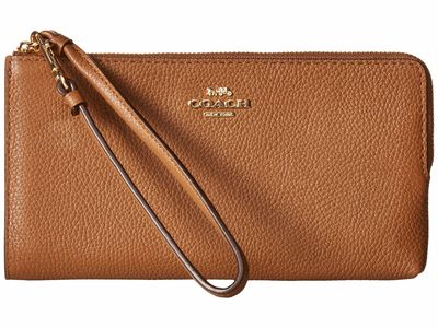 Coach - Coach Li/Saddle Zip Wallet Checkbook Wallet