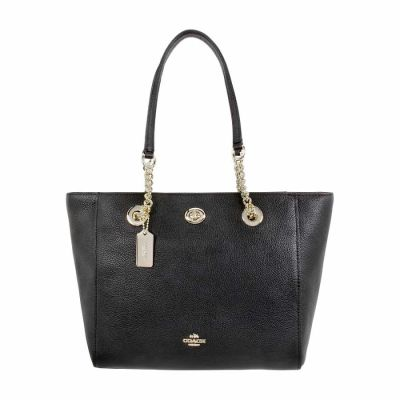 Coach - Coach Turnlock Ladies Small Pebbled Leather Tote Handbag 57107