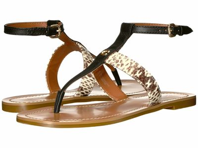 Coach - Coach Women Black/Natural Liza Flat Sandals