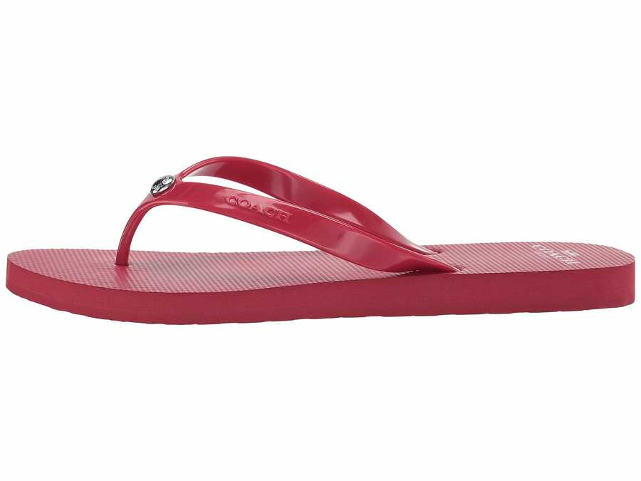 Coach Women Red Flip-Flop Flip Flops