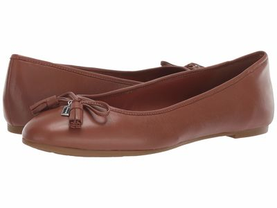 Coach - Coach Women Saddle Bea Leather Flat Flats