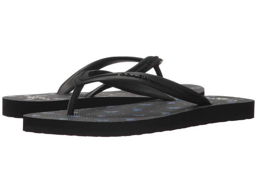 COACH Women's Black Lapis Cleo Flip-Flop Sandals 9082107764638