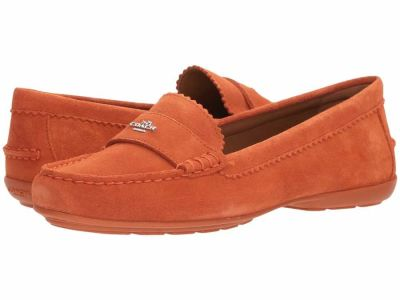 Coach - COACH Women's Coral Suede Odette Loafers