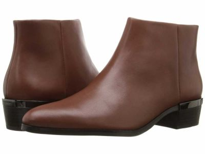 Coach - COACH Women's Dark Saddle Soft Veg Leather Montana Ankle Boots Booties
