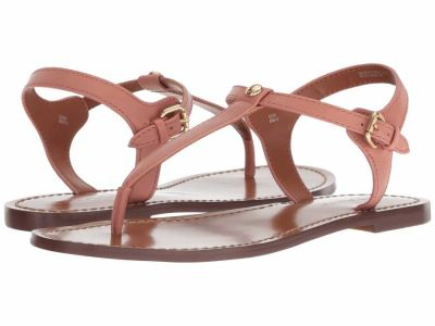 Coach - COACH Women's Melon Leather T-Strap Sandal Flat Sandals