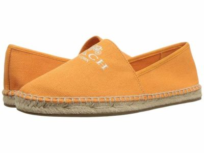 Coach - COACH Women's Orange Rhoda Canvas Espadrille Loafers