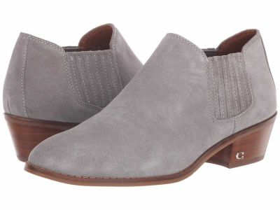Coach - COACH Womens's Grey Suede Ankle Bootie Ankle Boots Booties