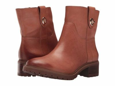 Coach - COACH Women's Saddle Burnished Georgetta Ankle Boots Booties