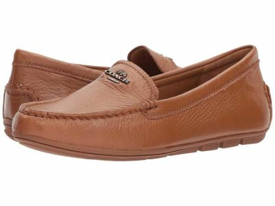 Coach - COACH Women's Saddle Leather Mary Lock Up Driver Loafers