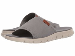 Cole Haan Men İronstone Knit İvory Zerogrand Stitchlite Slide Flat Sandals - Thumbnail