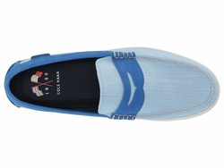 Cole Haan Men Nautical Blue Chambray Nantucket Loafer Loafers - Thumbnail