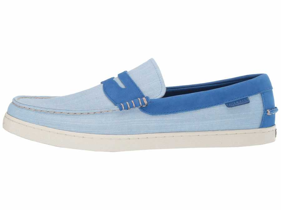 Cole Haan Men Nautical Blue Chambray Nantucket Loafer Loafers