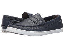 Cole Haan Men Peacoat Leather Nantucket Loafer Loafers - Thumbnail