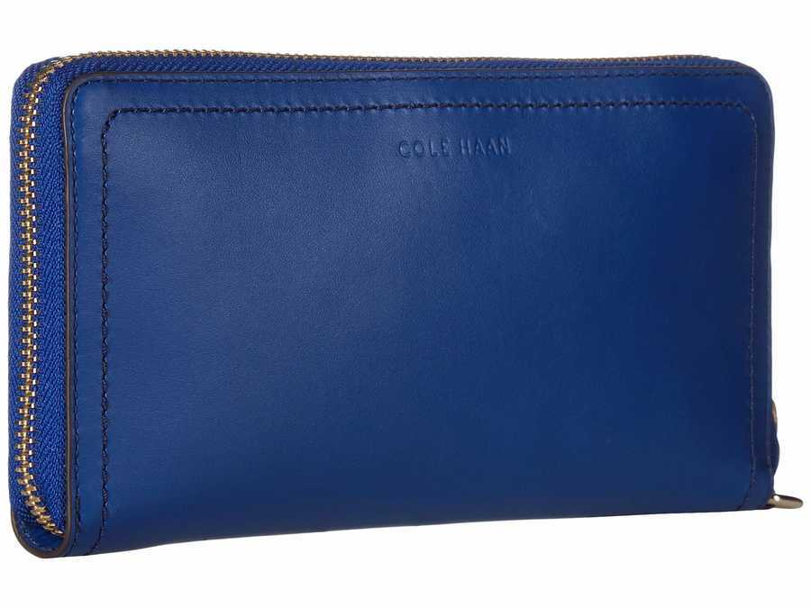 Cole Haan Navy Peony Tali Continental Wallet Checkbook Wallet