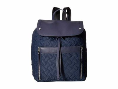 Cole Haan - Cole Haan Navy Quilted Nylon Backpack