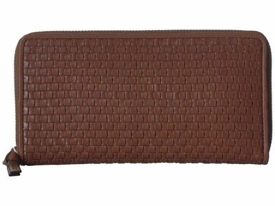 Cole Haan - Cole Haan Sequoia Bethany Weave Continental Wallet Checkbook Wallet