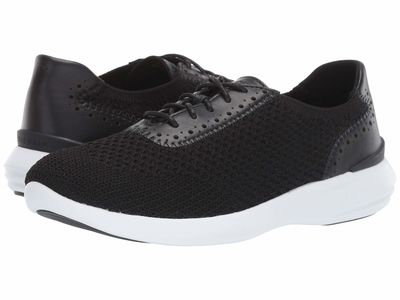 Cole Haan - Cole Haan Women Black Knit/Leather/Optic White 2.0 Ella Grand Knit Oxford Lifestyle Sneakers