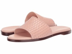 Cole Haan Women Blush Leather Analise Weave Sandal Flat Sandals - Thumbnail
