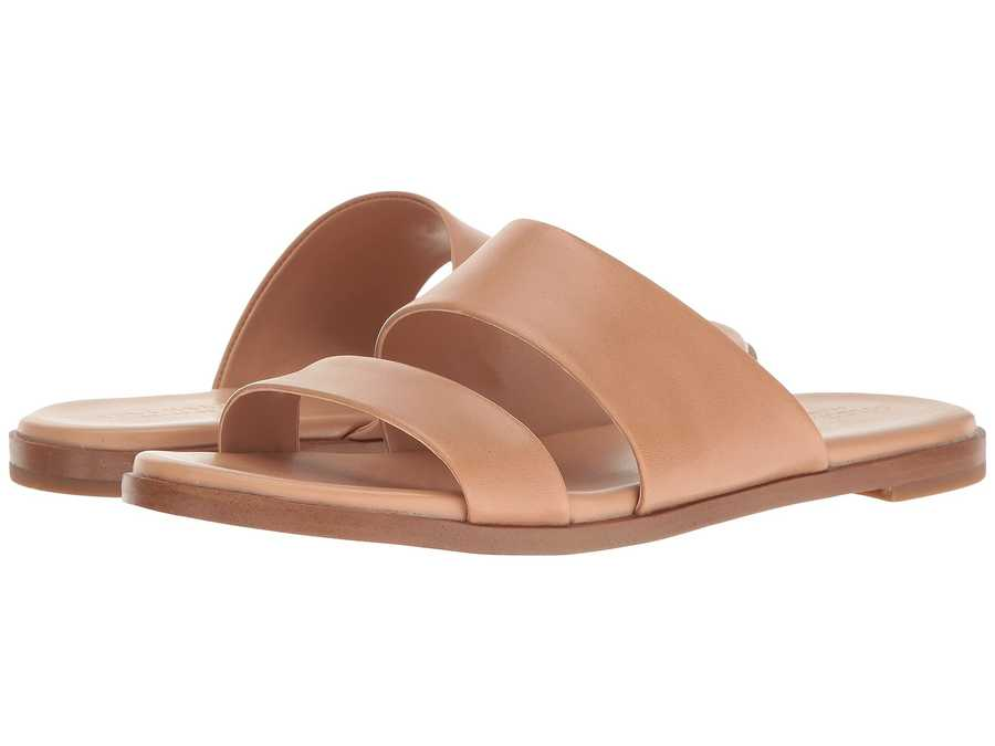 Cole Haan Women British Tan Anica Sandal Flat Sandals