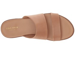 Cole Haan Women British Tan Anica Sandal Flat Sandals - Thumbnail