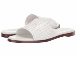 Cole Haan Women İvory Leather Analise Weave Sandal Flat Sandals - Thumbnail