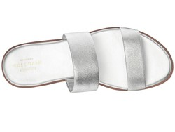 Cole Haan Women Silver Leather Findra Sandal İi Heeled Sandals - Thumbnail