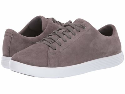 Cole Haan Women Stormcloud Suede Grand Crosscourt İi Lifestyle Sneakers