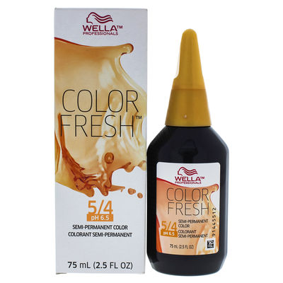 Wella - Color Fresh Semi-Permanent Color - 5 4 Light Brown-Red 2,5oz