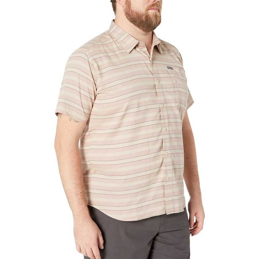 Columbia Ancient Fossil Woven Big & Tall Shoals Point™ Short Sleeve Shirt