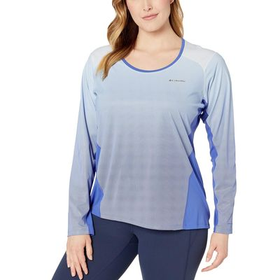 Columbia - Columbia Arctic Blue Plus Size Solar Chill™ 2.0 Long Sleeve Shirt