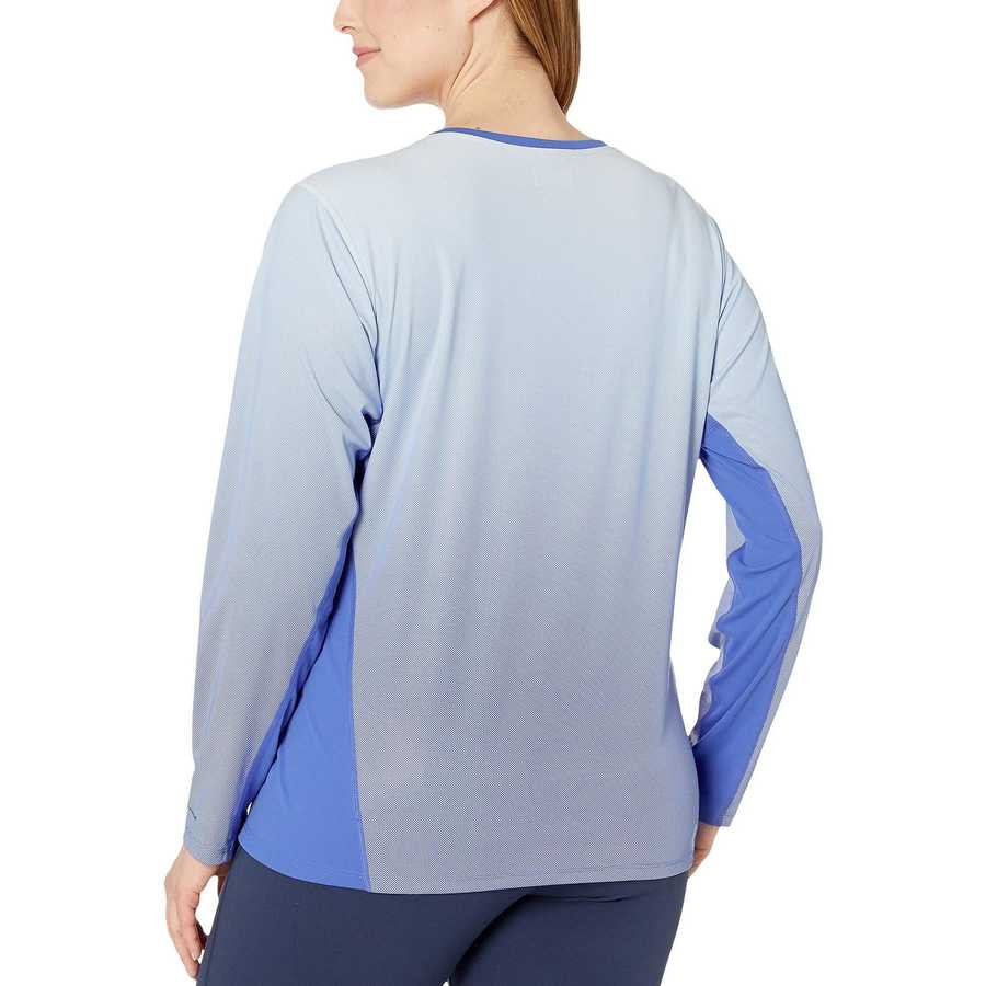 Columbia Arctic Blue Plus Size Solar Chill™ 2.0 Long Sleeve Shirt