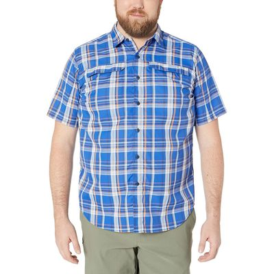 Columbia - Columbia Azul Plaid Big And Tall Silver Ridge 2.0 Multi Plaid Short Sleeve Shirt
