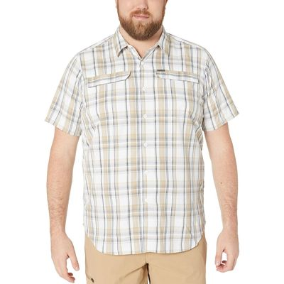 Columbia - Columbia Beach Plaid Big And Tall Silver Ridge 2.0 Multi Plaid Short Sleeve Shirt