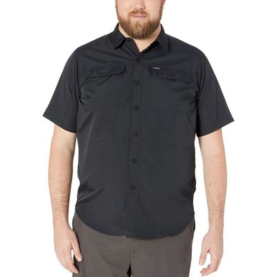 Columbia - Columbia Black Big And Tall Silver Ridge 2.0 Short Sleeve Shirt