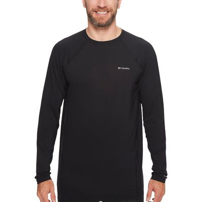 Columbia Black Big & Tall Midweight Stretch Long Sleeve Top