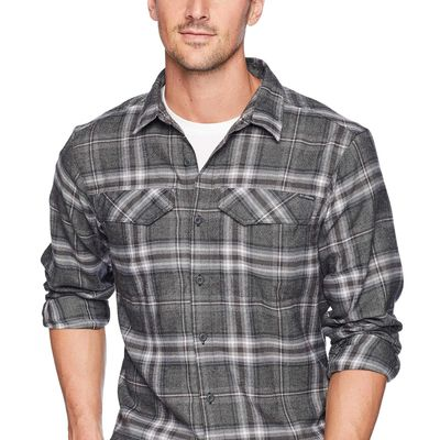 Columbia - Columbia Black Plaid Silver Ridge Flannel Long Sleeve Shirt