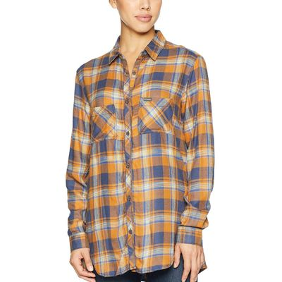 Columbia - Columbia Canyon Gold Plaid Always Adventure™ Long Sleeve Shirt
