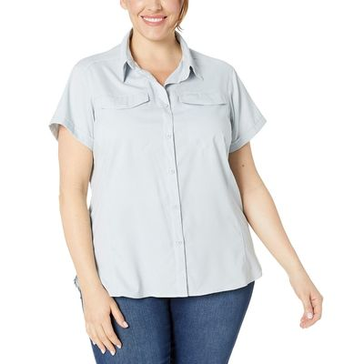 Columbia - Columbia Cirrus Grey Plus Size Silver Ridge™ Lite Short Sleeve Shirt