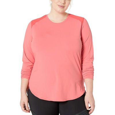 Columbia - Columbia Coral Bloom/Red Coral Plus Size Saturday Trail™ Knit Long Sleeve Shirt