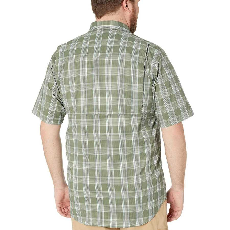 Columbia Cypress Buff Check Big And Tall Silver Ridge Lite Plaid Short Sleeve Shirt