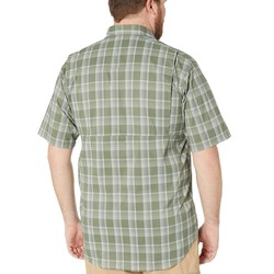 Columbia Cypress Buff Check Big And Tall Silver Ridge Lite Plaid Short Sleeve Shirt - Thumbnail